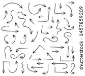 black filigree arrows. hand... | Shutterstock .eps vector #1457859209