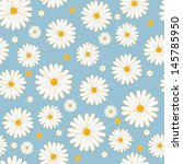 Seamless Daisies Vector Pattern