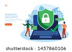 people discussing web security... | Shutterstock .eps vector #1457860106