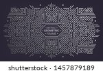 vector art deco frame  abstract ... | Shutterstock .eps vector #1457879189