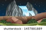 nature scene landscape template ... | Shutterstock .eps vector #1457881889
