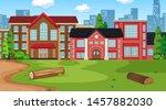 nature scene landscape template ... | Shutterstock .eps vector #1457882030