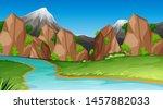 nature scene landscape template ... | Shutterstock .eps vector #1457882033