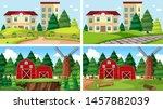 set of outdoor nature scenes... | Shutterstock .eps vector #1457882039