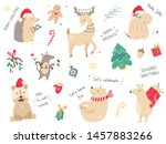 christmas holiday set with hand ...   Shutterstock .eps vector #1457883266