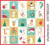 vector advent christmas... | Shutterstock .eps vector #1457883269