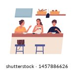 morning friendly meeting at... | Shutterstock .eps vector #1457886626