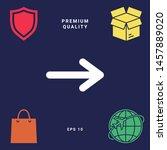 arrow icon symbol. graphic... | Shutterstock .eps vector #1457889020