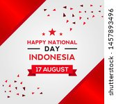 indonesia independence day... | Shutterstock .eps vector #1457893496