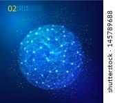 global mesh network digital and ...   Shutterstock .eps vector #145789688
