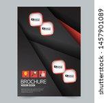 flyer or poster. brochure... | Shutterstock .eps vector #1457901089