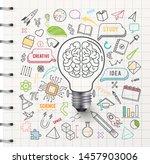 creative thinking idea bulb  ...   Shutterstock .eps vector #1457903006