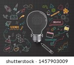 creative thinking idea bulb  ... | Shutterstock .eps vector #1457903009