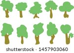 vector of trees collection .... | Shutterstock .eps vector #1457903060