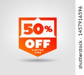 50  price tag. discount 50  off ... | Shutterstock .eps vector #1457916596