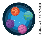 space exploration four colorful ... | Shutterstock .eps vector #1457922800