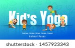 Young Kids In Different Yoga...