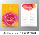 modern abstract fluid circle... | Shutterstock .eps vector #1457923370