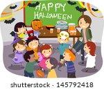 illustration of stickman kids... | Shutterstock .eps vector #145792418