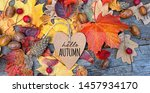 Hello Autumn. Greeting Card And ...
