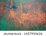 Rusty Metal Plate Background...