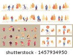 colorful autumn park flat...   Shutterstock .eps vector #1457934950