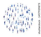 business team. isomeric...   Shutterstock .eps vector #1457939873