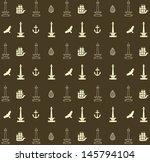 seamless pattern  of Jakarta