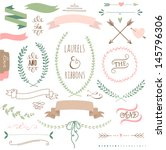wedding graphic set  arrows ... | Shutterstock .eps vector #145796306