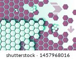 hexagons and arrows vector... | Shutterstock .eps vector #1457968016