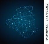 algeria map   abstract... | Shutterstock .eps vector #1457973269