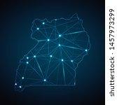 uganda map   abstract geometric ... | Shutterstock .eps vector #1457973299
