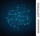 gabon map   abstract geometric... | Shutterstock .eps vector #1457973416