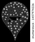 bright mesh maniac smiley map... | Shutterstock .eps vector #1457974226