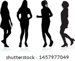 silhouette of a woman. vector... | Shutterstock .eps vector #1457977049