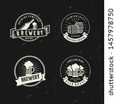 icon set vintage beer brewery... | Shutterstock .eps vector #1457978750