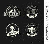 set of beer brewery vector... | Shutterstock .eps vector #1457978750