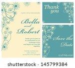 wedding or invitation card.... | Shutterstock .eps vector #145799384