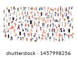 crowd of flat illustrated... | Shutterstock .eps vector #1457998256