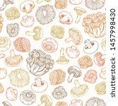 various mushroom colored... | Shutterstock .eps vector #1457998430