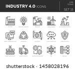 set of vector industry 4.0... | Shutterstock .eps vector #1458028196