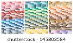 abstract colored palette guide  | Shutterstock .eps vector #145803584