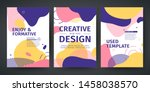 set of template design of... | Shutterstock .eps vector #1458038570