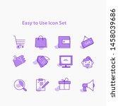 e commerce  online shoppings...   Shutterstock .eps vector #1458039686