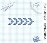 dots arrow line sketch icon... | Shutterstock .eps vector #1458048413