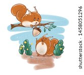 Illustration With A Squirrels...