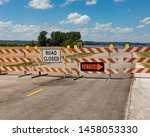 Barricades And Signs Warn Of A...