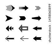 info graphic arrows big black... | Shutterstock .eps vector #1458060899