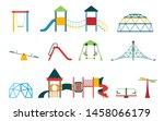 kid playground equipment flat... | Shutterstock .eps vector #1458066179
