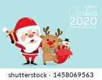 merry christmas and happy new... | Shutterstock .eps vector #1458069563